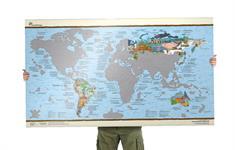 Awesome Maps bucketlist map scratch edition Diversen