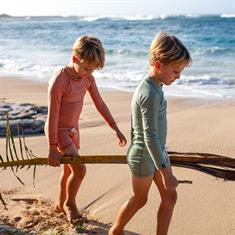 Beach & Bandits CLAY RIBBED TEE UPF 50+ KIDS UNISEX LYCRA LS