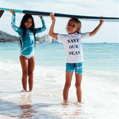 Beach & Bandits SAVE OUR SEAS UPF 50 KIDS LYCRA LS