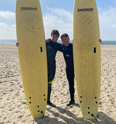 Dad's Surf wave banner top