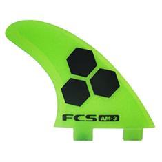 FCS AM-3 tri fin S-PC Groen tinten