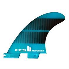 FCS Performer Neo Glass Medium Quad Fins Blauw tinten