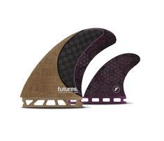 Future fins Futures Rasta Twin + Trailer Honeycomb Bruin tinten