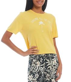 Hurley W ALL SUNSHINE CROPPED CREW - T-shirt short sleeve