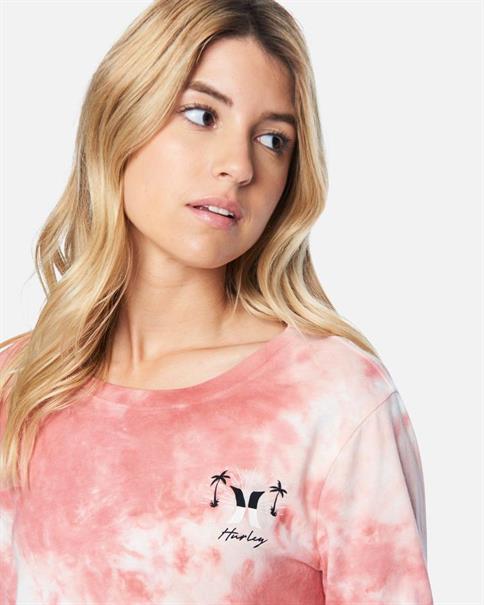 Hurley W SUNBURST CROPPED-T-shirt long sleeve