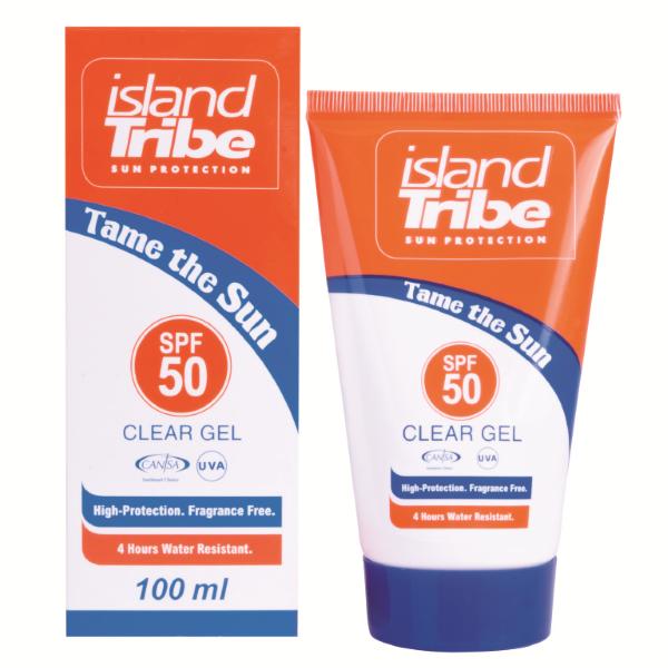 Island tribe SPF 50 Clear Gel 100ml Diverse tinten