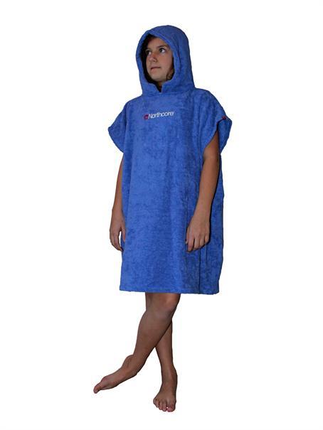 Northcore kids beach basha- changing robe: blue