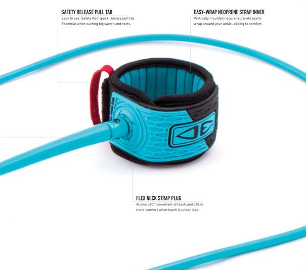 Ocean & Earth Pro Comp XT 6' Leash Blauw tinten