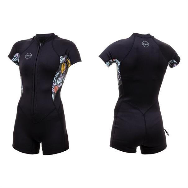 ONeill Wms Bahia 2/1 Front Zip S/S Spring - Wetsuit Dames