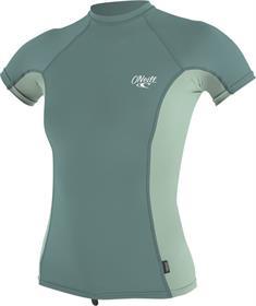 ONeill Wms Premium Skins S/S Rash Guard Groen tinten