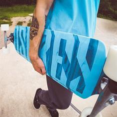 """Osprey Twint Tip Blue text Longboard skateboard 38"""""""