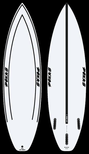 Pukas DARK INN CA Futures Surfboard