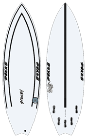 Pukas THE ROACH INNCA FCS Surfboard