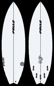 Pukas THE ROACH PU FCS Surfboard