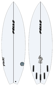Pukas THE ROACH PU FUT Surfboard