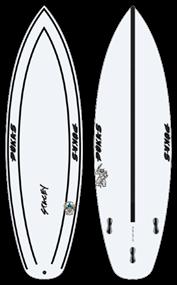 Pukas WAVESLAVE INNCA FCS Surfboard
