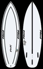 Pukas WAVESLAVE INNCA FUT Surfboard