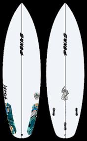 Pukas WAVESLAVE PU FCS Surfboard