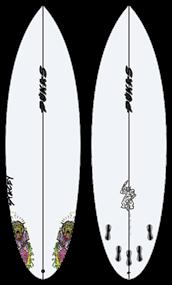 Pukas ZOMBIEWOLF PU FCS Surfboard