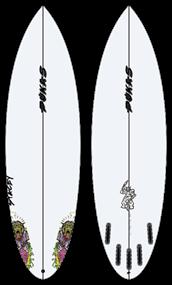 Pukas ZOMBIEWOLF PU FUT Surfboard