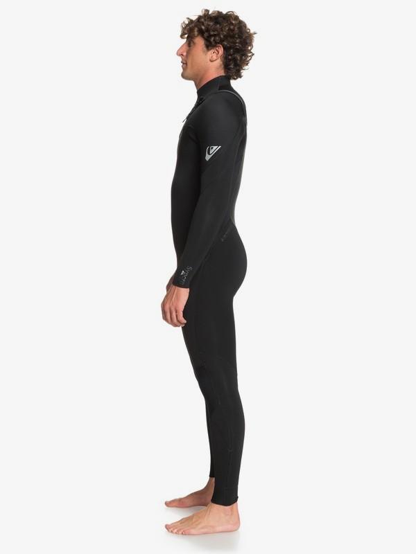 Quiksilver 3/2mm Syncro - Chest Zip Wetsuit for Men - Wetsuit Heren