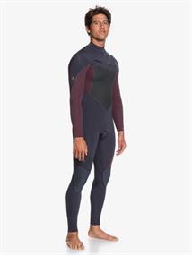Quiksilver 4/3mm Highline Plus - Wetsuit Heren met een borstrits
