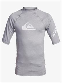 Quiksilver All Time - Rash Vest met Korte Mouw en UPF 50 voor Jongens 8-16