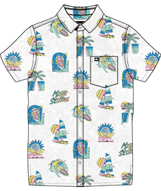 Quiksilver Island Pulse - Short Sleeve Shirt for Boys 8-16