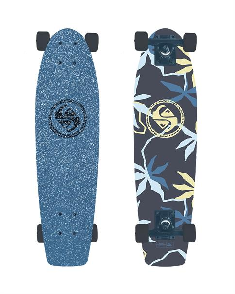 Quiksilver Poi Bloom Skateboard Blauw dessin
