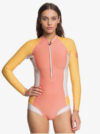 Roxy 1mm POP Surf - Shorty in Bikinimodel met Lange Mouw en Voorrits voor Dames