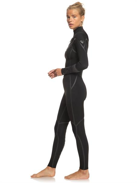 Roxy 4/3mm Syncro Plus - Chest Zip Wetsuit for Women