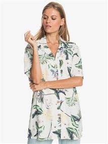Roxy Caravan Of Sun - Oversize Short Sleeve Shirt for Women