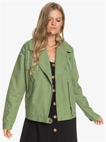 Roxy Dream Destination - Cotton Biker Style Jacket for Women
