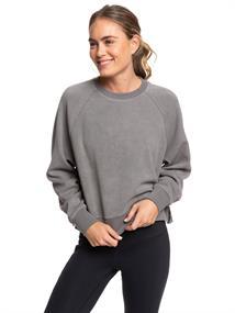 Roxy Instant Crush - Cropped Sportieve Sweater van Fleecestof voor Dames Zwart tinten