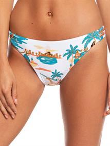 Roxy Printed Beach Classics - Bedekkend Bikinibroekje voor Dames Wit tinten