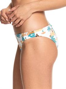 Roxy Printed Beach Classics - Medium Bikinibroekje voor Dames Wit tinten