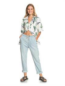 Roxy Slow Swell Beachy Beach - Relaxed Fit Jeans for Women