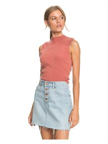 Roxy Spring Muse - Rib Knit Mock Neck Top for Women