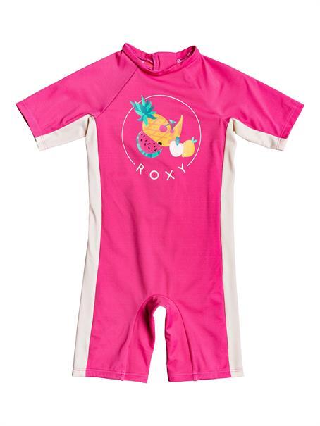 Roxy Springsuit - Eendelige Rashguard met Korte Mouw en UPF 50 voor Meisjes 2-7 - Wetsuit Kind