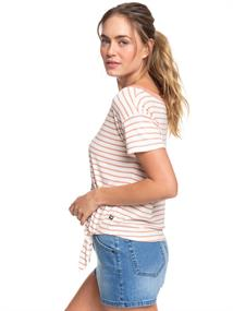 Roxy Wake Up With The Sun - T-shirt om opzij te knopen voor Dames