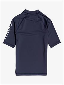 Roxy Whole Hearted - Rash Vest met Korte Mouw en UPF 50 voor Meisjes 8-16 Blauw tinten