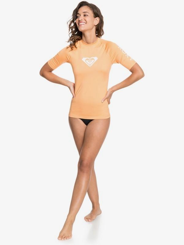 Roxy Whole Hearted - Short Sleeve Rash Vest for Women