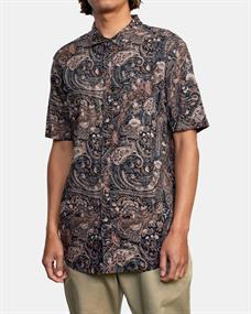RVCA Tangier Paisley - Short Sleeve Shirt for Men