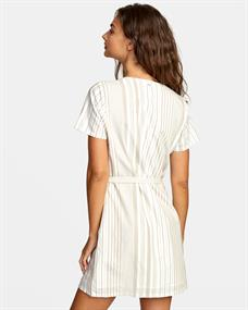 RVCA TOUCH - SHORT SLEEVE MINI DRESS FOR WOME