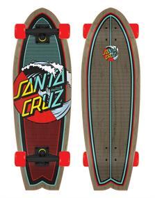 """Santa cruz Classic Wave Splice Shark 27"""" cruiser skateboard"""