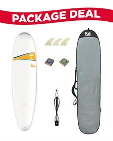 Tahe 7'6 Mini-Longboard Surf Package Deal