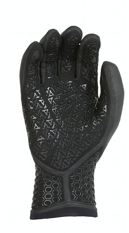 Xcel 5mm Drylock 5 Finger Gloves Zwart tinten